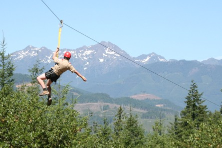 Zipline at Camp Hahobas