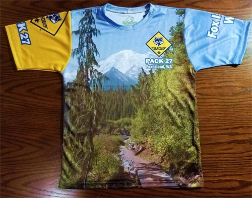 Pack 27 Cub Scout T-Shirt Order - Click To Enlarge
