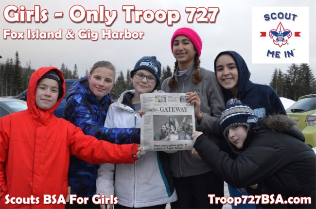 Scouts BSA Girl Troop 727 of Fox Island & Gig Harbor