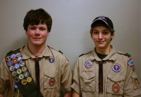 Eagle Scouts Jensen Bond and Grant Toepfer