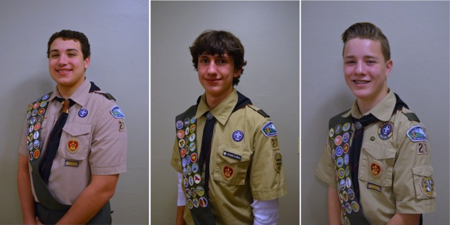 Read more: Eagle Scouts Brenden Rivera, Jackson Plymale and Everett Ruuska