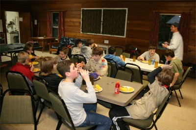 Dinner time at camp Ramblewood